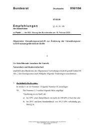 Bundesrat 916/1/04 Empfehlungen - Umwelt-online