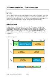 Triale kaufmännischen Lehre bei aprentas - Bbaktuell
