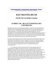 Das Urantia Buch - Schrift 106 - Realitätsebenen des Universums