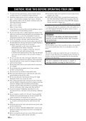 Compact Disc Player Lecteur Compact Disc - Yamaha - Page 4