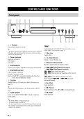 Compact Disc Player Lecteur Compact Disc - Yamaha - Page 6