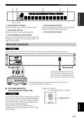Compact Disc Player Lecteur Compact Disc - Yamaha - Page 7