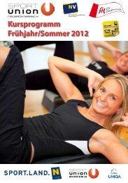 Kursprogramm Frühjahr/Sommer 2012