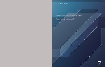 Verzeichnis der Beiratsmitglieder - Deutsche Bank Interim Report ...