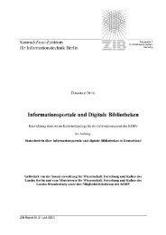 Informationsportale und Digitale Bibliotheken - ZIB