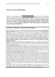 Einheit 8: Gegenwartsphilosophie - Amerbauer Martin