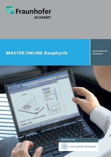 Informationsbroschüre zum Studiengang - Master Online Bauphysik ...