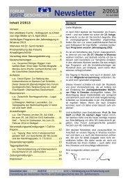 Newsletter Nr. 2 / 2013 - Forum Justizgeschichte eV