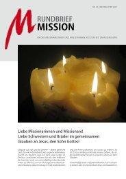 Nr. 96 - Dezember 2007 - Arbeitsstelle Weltkirche