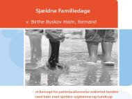 Indhold Sjældne Familiedage - Sjældne Diagnoser