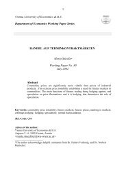 Handel auf Terminkontraktmärkten - ePub WU