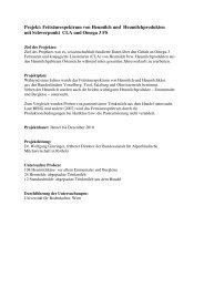 Zusammenfassung Projekt Fettsäurenstudie - Heumilch