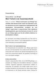 Mehr Freiheit in der Implantatprothetik - Heraeus Kulzer