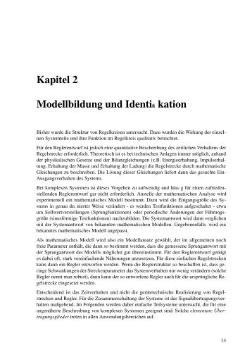1. Modellbildung und Identifikation