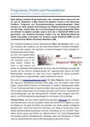Tagungsbericht_Medientreff_NRW_2011 - Tagungshäuser im ...