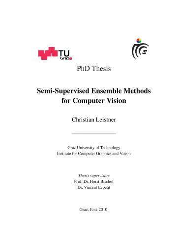 PhD Thesis Semi-Supervised Ensemble Methods for Computer Vision