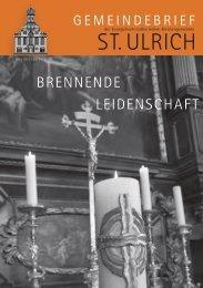 Gemeindebrief Ev. St. Ulrich Ostern 2013 - Evangelisch St. Ulrich ...