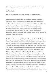 die rivalität zweier bilder vom alter - Pro Senectute Schweiz