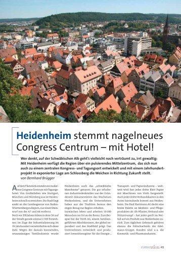 Heidenheim stemmt nagelneues Congress Centrum - Convention ...