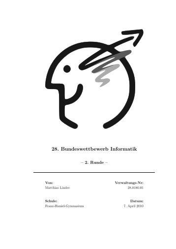 28. Bundeswettbewerb Informatik - Matthias Linder