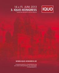 14.+15. JUNI 2013 - iquo-kongress.de