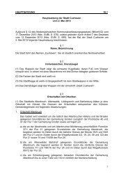 HAUPTSATZUNG 10.1 Hauptsatzung der Stadt Cuxhaven vom 2 ...