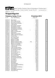 Preisliste - Holzbildhauer Studer