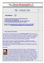 Infobrief 2-08 - Forum-Bioenergetik eV