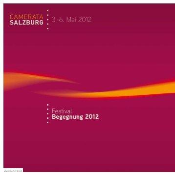 3.-6. Mai 2012 - Camerata Salzburg