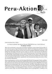 Rundbrief vom März 2009 - Peru-Aktion