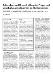 Artenschutz und Umwelthaftung bei Pflege - Arbeitsgruppe für ...