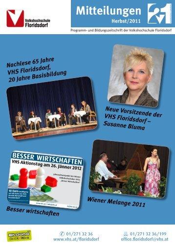 Herbst 2011 - Verband Wiener Volksbildung