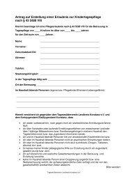 Antrag auf Pflegeerlaubnis - Tagesmütterverein Lkr. Konstanz eV