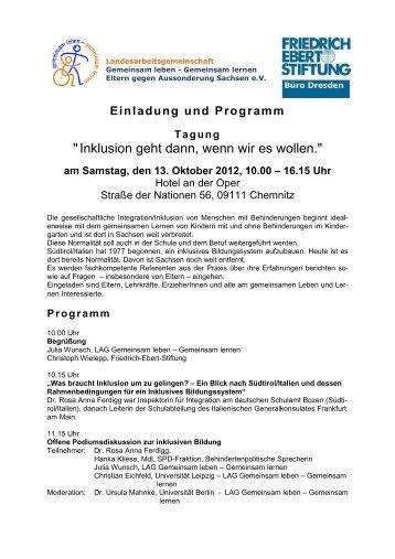 das gesamte Programm - Inklusion in Sachsen