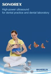 Ultrasonics units for dental practice and laboratory