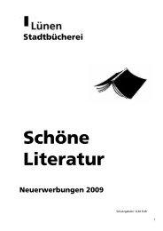 12. SchoeneLiteraturNeuerwerbungen2009.pdf - Stadt Lünen