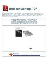 scanjet 7650 document flatbed scanner - BRUKSANVISNING PDF