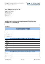 Antrag auf Zulassung von Schuldverschreibungen ... - Börse Stuttgart
