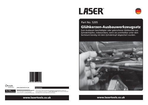 Glühkerzen-Ausbauwerkzeugsatz - Laser Tools