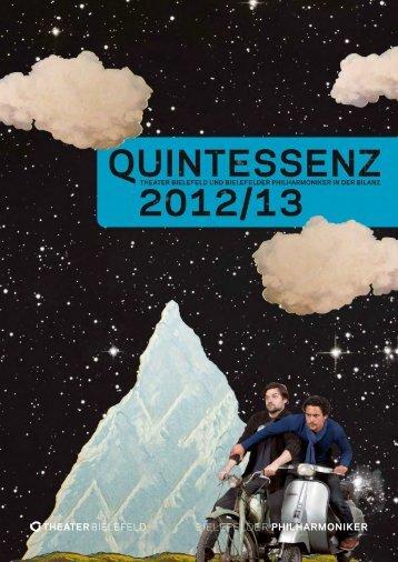 Hier finden Sie die gesamte »Quintessenz« als pdf. - Theater-Bielefeld