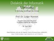 Grundfragen des Lernens - Didaktik der Informatik - Bergische ...