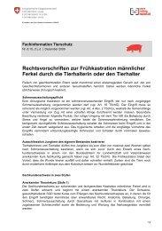 Rechtsvorschriften zur Frühkastration - AgriGate AG