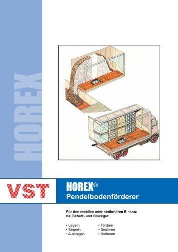 Prospekt HOREX® Pendelbodenförderer - VST Umwelttechnik GmbH
