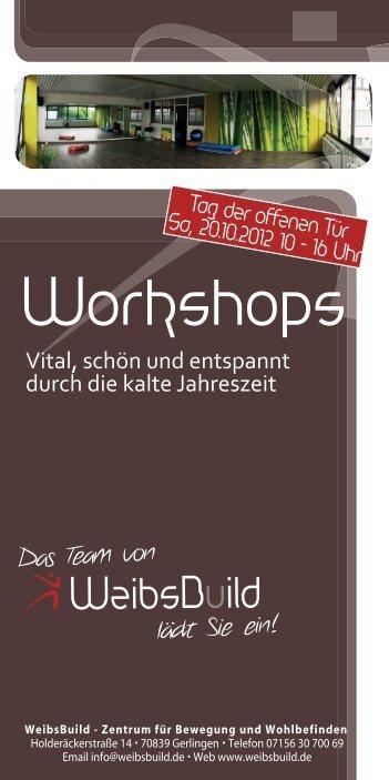 Workshops - WeibsBuild