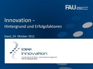 "Innovation ist das neue ""neu"" - LANUV NRW"