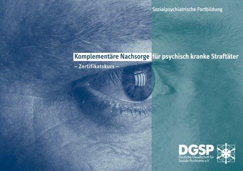 Komplementäre Nachsorge für psychisch kranke Straftäter