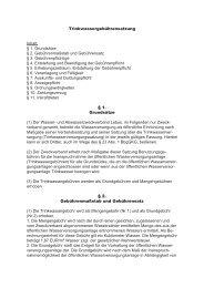 Trinkwassergebührensatzung - Zweckverbandes Wasserversorgung ...