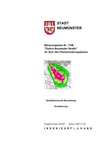 Schalltechnische Untersuchung ... - Stadt Neumünster