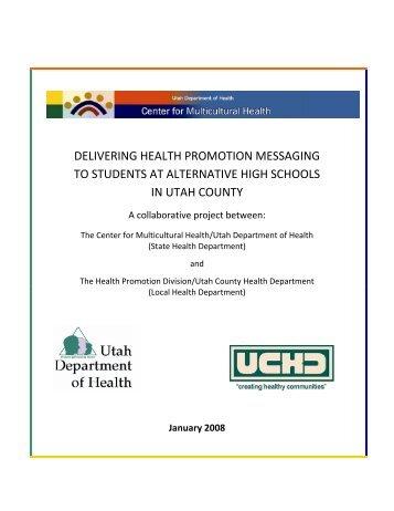 Collaborative Project Between - Utah Department of Health