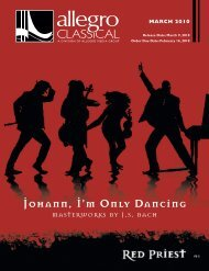 Johann, I'm Only Dancing - Allegro Music